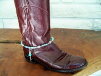 "Boot Bracelet-Turquoise and ""Bling"" Boot Jewelry"