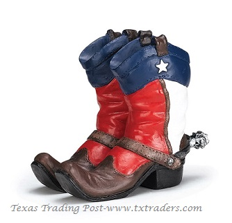 Texas Boots Business Card Holder
