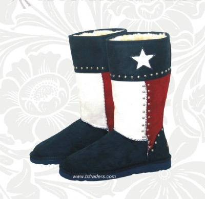 Texas Flag Winter Boots