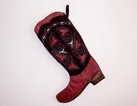 Boot Stocking Red Boot-Texas Christmas Stocking