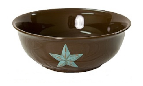 Texas Size Ceramic Serving Bowl with the Texas Lone Star
