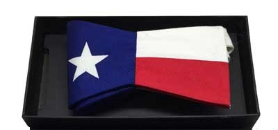 Texas Flag Bow Tie - 100% silk