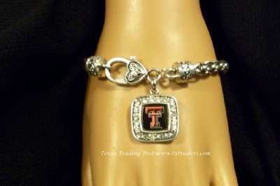 Tech - Blingy Bracelet with Texas Tech Logo and Brighton-Style Clasp