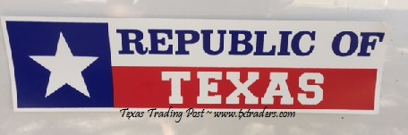 Republic of Texas Bumper Sticker