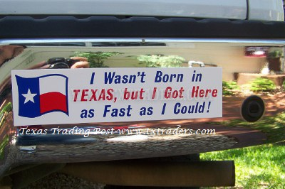 I Wasn't Born in Texas, but I Got Here...Texas Bumper Sticker