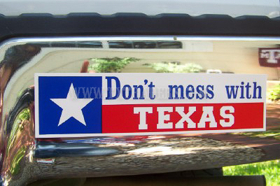 Don't Mess With Texas Bumper Sticker (Flag)