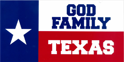 God Family Texas Bumper Sticker