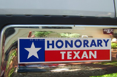 Honorary Texan Bumper Sticker