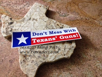 Don't Mess With Texans' Guns Bumper Sticker