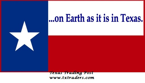 On Earth As It Is In Texas Bumper Sticker