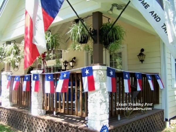 Bunting   Texas Flag Bunting 20. Texas Garden   Patio Decor   Accessories
