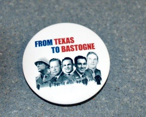 "Commemorative Button ""From Texas to Bastogne"""