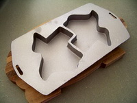 Cast Aluminum Texas Shaped Double Cake or Cookie Pan
