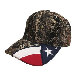 Cap in Camo with the Texas Flag
