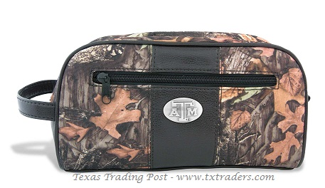 Aggie Camo Toiletry Bag with ATM Concho
