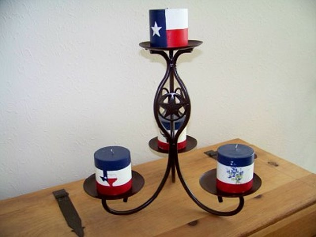 Texas Lone Star Candle Holder - Texas Candle Holder