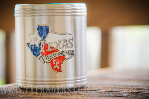 Texas Soda or Beer Can Holder - Texas Coozie