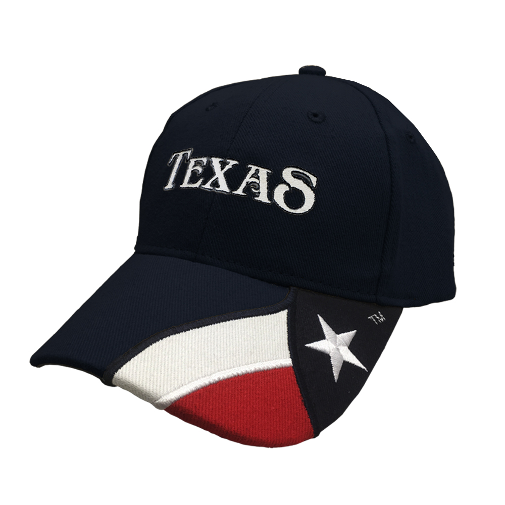 Embroidered Navy Cap with TEXAS