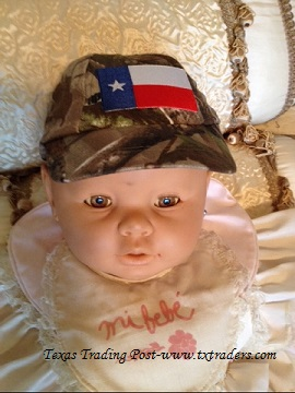 Baby Texas Camo Ball Cap with the Texas Flag