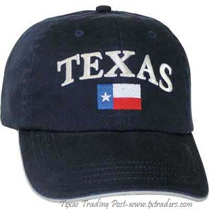 Cap embroidered with Texas Flag