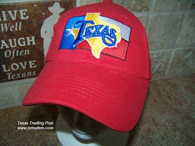 Texas Cap with State Flag and Map of Texas