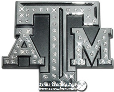 Car or Truck Auto Emblem - Texas A&M with Bling