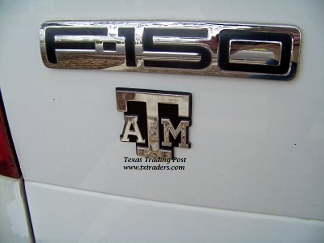 Car or truck auto emblem texas am logo