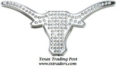 Car or Truck Auto Emblem - Bevo with Bling