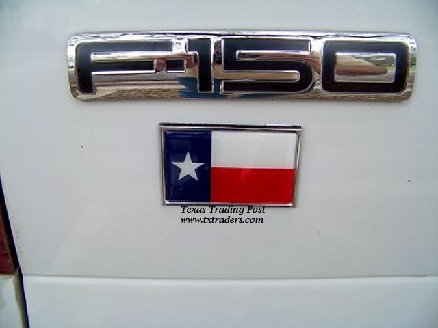 Car or Truck Auto Emblem - Texas Flag