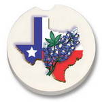 Car Stone Coaster - State of Texas and Bluebonnets