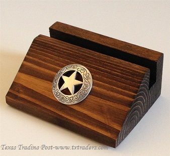 Business Card Holder with the Texas Ranger Star