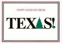 Christmas Cards-Happy Holidays from Texas - Texas Christmas Cards
