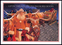 Christmas Cards-Bevo and Texas Santa