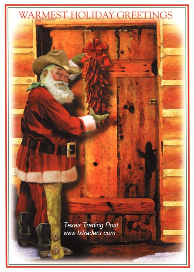 Christmas Cards -Warmest Holiday Greetings - Texas Christmas Cards