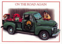 Christmas Cards-Texas Santa & His Pickup
