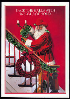 Christmas Cards Deck The Halls With Boughs Of Holly