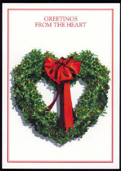 Texas Christmas Cards.Christmas Cards Holly Heart Wreath Texas Christmas Cards