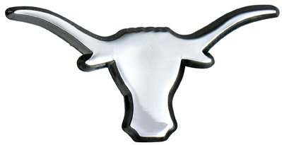 Car or Truck Auto Emblem - University of Texas Longhorn
