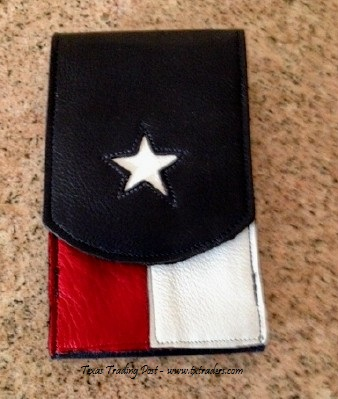 Leather Texas Flag Cell Phone Cover - Made in Texas