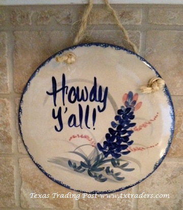 Howdy Y'all Ceramic Plaque - Made in Texas!