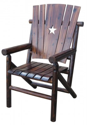 Texas Deck Chair with the Texas Lone Star