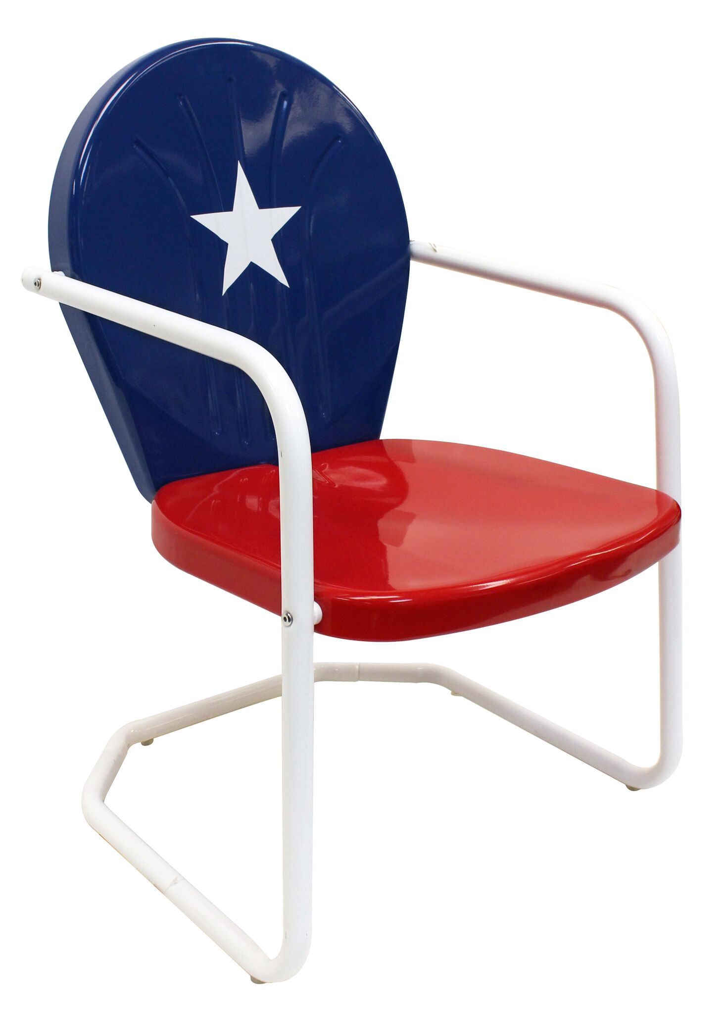 Retro Metal Texas Lawn Chair for your Texas Patio