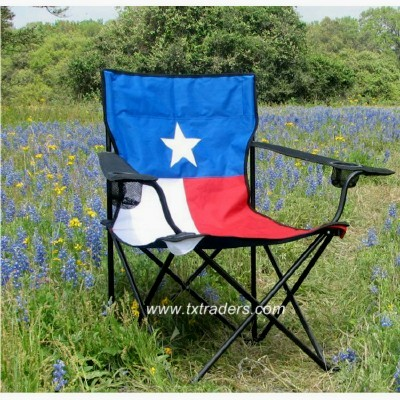Texas Flag Camp Chair With 2 Beverage Holders   Texas Camp Chair