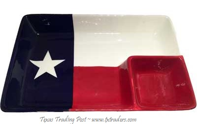 Texas Flag Chip 'n Dip Platter