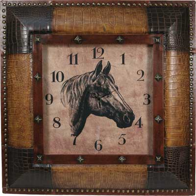 Texas Clock with Horse