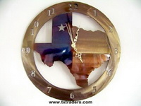 Texas Shaped Metal Art Clock