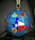 Cloisonne Texas Ornaments