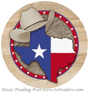 Aquastone Coasters with the State of Texas with a Stetson