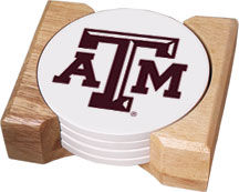 Aquastone Coasters for Texas A&M Aggies