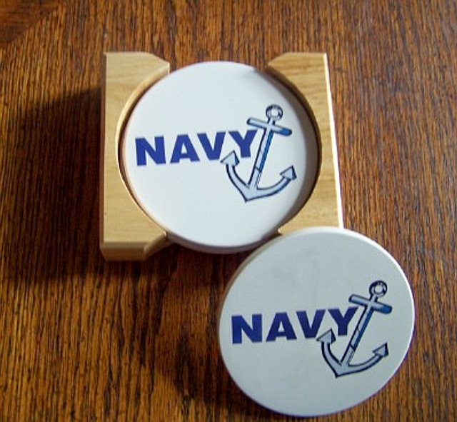 Coasters - U.S. Navy Gift Set
